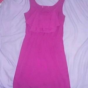 Short pink dress!